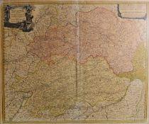 Historische Niederbayern-KarteAltkolorierter Kupferstich/Papier. Karte von Johann Bapt