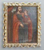 Heiliger Joseph mit JesuskindÖl/Leinwand. Der heilige Joseph mit dem Jesuskind auf de