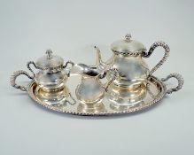 Italienisches Silber-Tee-KernstückSilber 800, einzeln am Boden mit Feingehalt, Herste