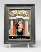 NonnenspiegelNonnenspiegel mit der polychromen Darstellung des Hl. Josephs mit dem Jes