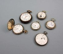 Konvolut von TaschenuhrenSilber und Metall, das Konvolut besteht aus 6 Taschenuhren (5