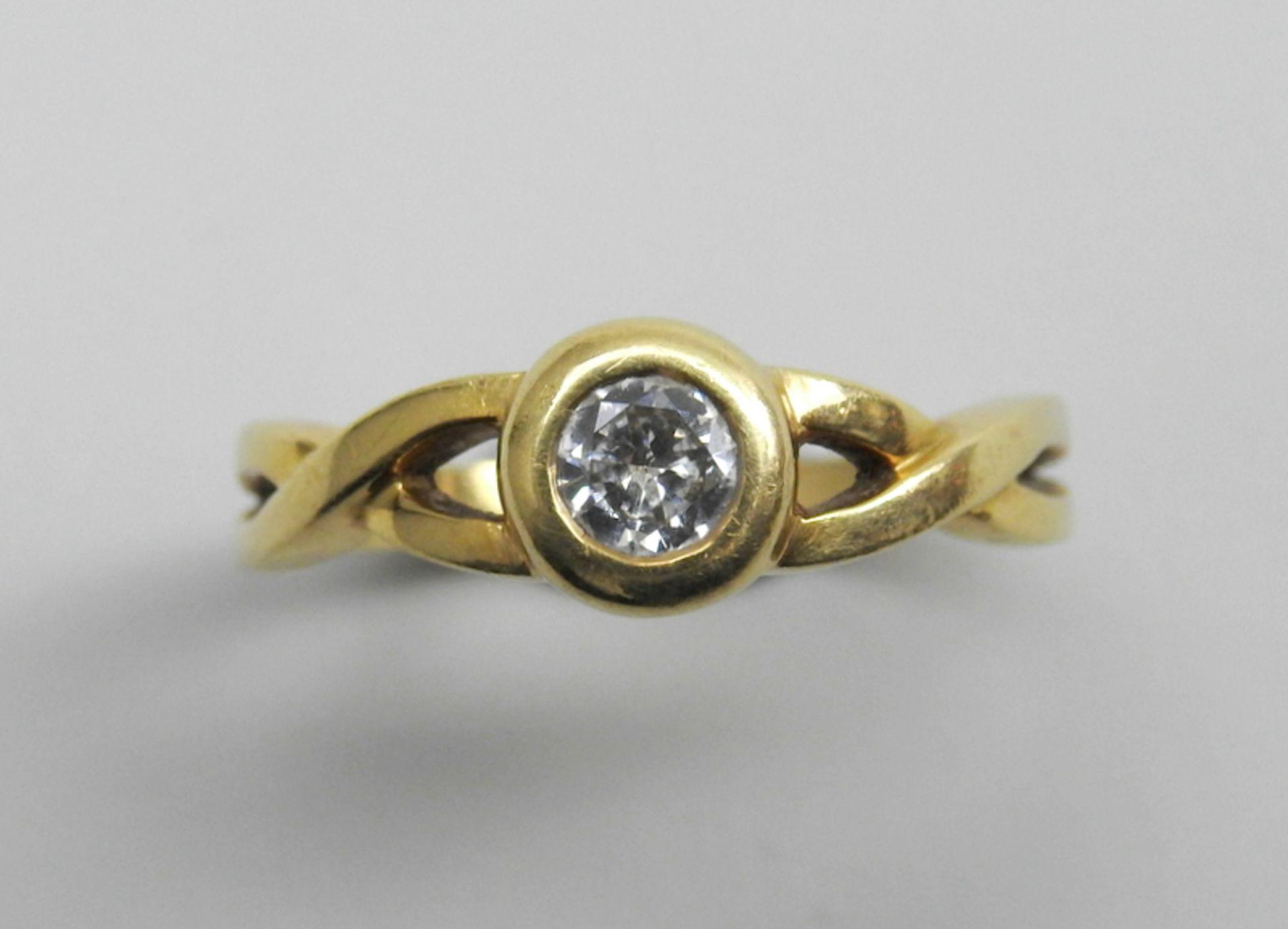 Schwerer Diamant-Ring18 K. Gelbgold. Herren-Ring mit zentralem Diamant-Besatz von ca. - Image 3 of 6