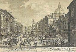 """Prospekt des Wienerischen grünen MarktsKupferstich/Papier. Aus der Sammlung """"Die Wien"""