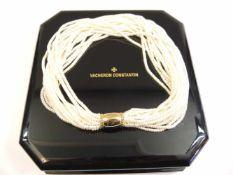 Vacheron Constantin, Perl-Gold-CollierGold, schweres Mittelteil und feine Perlensträn