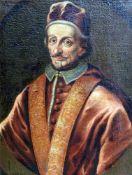 Porträt des Papstes Clemente IX (1600 - 1669) Öl/Leinwand. Unsigniert, in Plakette fälschlich als