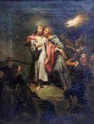 Der Verrat des JudasÖl/Leinwand. Der Verrat Jesu durch Judas in altmeisterlicher Ausf