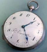 Taschenuhr mit Doppelschlagwerk Silber. Taschenuhr von Fres. Esquivillon Genève mit S