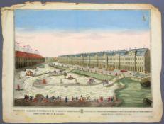 Ansicht von St. Petersburg Kolorierter Kupferstich/Papier. Ansicht von St. Petersburg