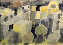 Eduard Bargheer, 1901 Hamburg - 1979 Hamburg Aquarell/Papier. Mosaikartige südliche S