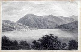 Ansicht des Tegernsees Kupferstich/Papier. Ansicht des Tegernsees von Gmund aus. Mitti