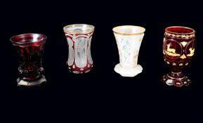 Konvolut von Biedermeier-Gläsern Glas. Konvolut bestehend aus 4 Gläsern, darunter 1