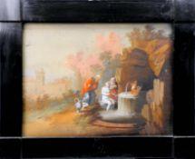 Susanna im Bade Hinterglasmalerei. Die Geschichte berichtet von der schönen jungen Ba