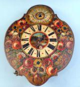 Tölzer Zappler-Uhr Metall-Uhrengehäuse. Vierpassiges Frontblatt ebenso in Metall, mi
