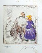 Alfred Hrdlicka, 1928 Wien – 2009 ebenda Lithographie/Papier. Mappe mit 7 ausdruckss