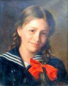Paul Wagner, 1864 – tätig in Bayern Öl/Leinwand, Portrait eines Mädchens. Unten r