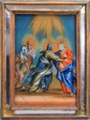 Feine biblische Darstellung Hinterglasmalerei. Detailreiche und feine Darstellung von