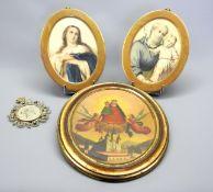 Konvolut von Miniaturen Konvolut bestehend aus 4 Bildnissen, darunter 1 Miniatur Öl/M
