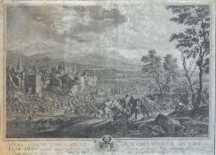 Fall der Mauer in Jericho Kupferstich/Papier. Detailreiche Darstellung nach Franz Joac
