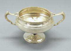 Feine Zuckerschale Silber Sterling, seitlich mit schreitendem Löwen, Krone von Sheffi