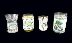 Konvolut von Gläsern Glas. Konvolut bestehend aus 4 Gläsern, darunter 3 Becher aus d