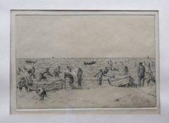 Erich Büttner, 1889 Berlin - 1936 Freiburg im Breisgau Lithographie/Papier. Szene ein