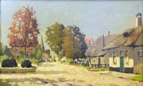 Nicolaas Bruynesteyn, 1893 – 1950, Niederlande Öl/Hartfaserplatte. Blick auf eine D