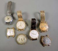 Konvolut von sieben Armbanduhren Das Konvolut besteht aus 7 Armbanduhren, darunter 5 C