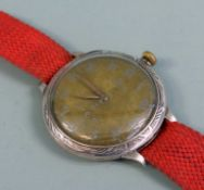 Omega Taschenuhr-Umbau Silber. Omega-Taschenuhr als Armbanduhr umgebaut mit Gehäuse a