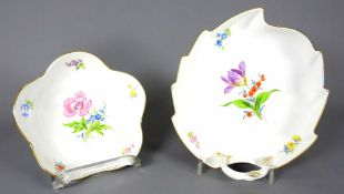 Meissen, Konvolut von zwei Schalen Porzellan, jeweils am Boden mit unterglasurblauer S