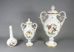 Herend, Konvolut von drei Vasen