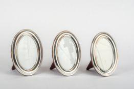 Drei Ovale Rahmen, Sterling-Silber
