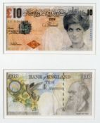 Banksy: 2 Banksy Difaced Tenners