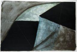 Hofschen, Edgar: Ohne Titel (Komposition mit schwarzen Formen)