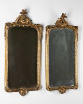 2 Gilded Rococo Wall Mirrors