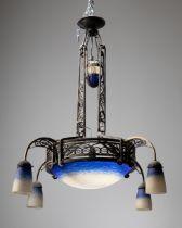 Schneider Art Déco Pendant lamp