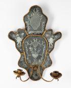 Venetian Mirror with candlesticks