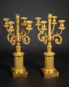 2 french Empire candelabras Bronze
