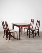Thonet Table and 4 Chairs No. 511