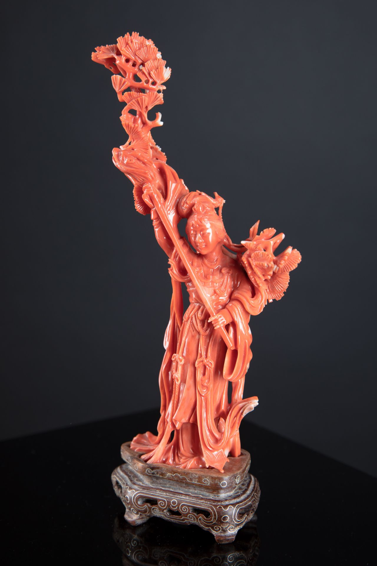 Chinese Coral carved sculpture