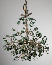 Mistletoe bronze lamp, Vienna