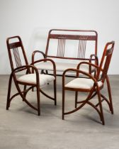 Thonet, Bench No. 511 and 2 Fauteuils No. 511