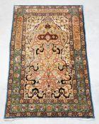 Hereke Silk carpet