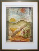 René Carcan, 2 sign. Farbradierungen, galeriegerahmt