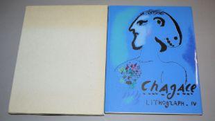 """Marc Chagall, """"Lithograph IV, 1969-1973"""", Wvz von 1974 mit den 2 Farblithograph"""