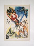 """Salvador Dalí, """"Les Bouches (Papillons surréalistes)"""", signierte Farblithograph"""