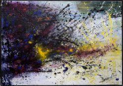 Rudi Baerwind, Gestisch-abstrakte Komposition, Ölgemälde, gerahmt