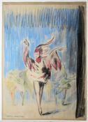 Wera von Bartels, Junge Tänzerinnen in Federkostümen, Farbkreide um 1910