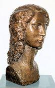 Alain Bettex, Frauenkopf, große Bronzeplastik