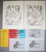 Rudi Baerwind, kleiner Sammlungsnachlass mit 6 Graphiken, teils frühe Arbeiten,