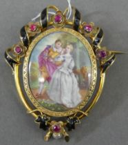 Miniaturenbrosche, um 1880